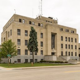 The Marinette County Courthouse, the site of a new green roof
