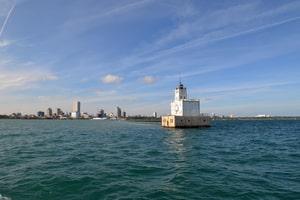 View of Milwaukee skyline from Lake Michigan