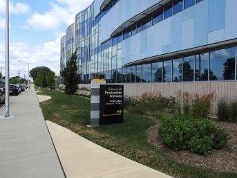 Side view of the University of Wisconsin-Milwaukee School of Freshwater Sciences